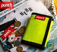Кошелёк тканевый ( портмоне , бумажник ) Punch - Cash, Acid Yellow ( желтый )