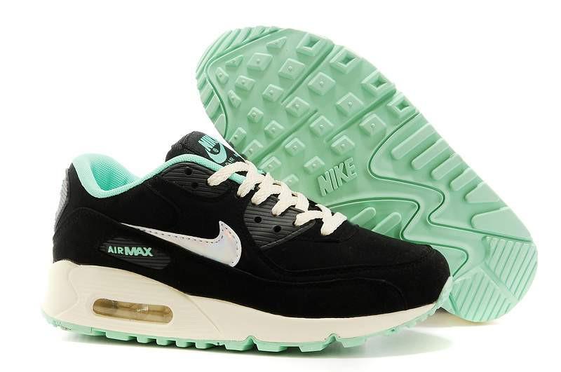 Кроссовки Nike Air Max 90 Black Mint Черные женские - Интернет-магазин  спортивной обуви в fa2270818e7af