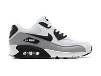 Кроссовки Nike Air Max 90 White Black Серые мужские