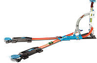 Трек Хот Вилс Каскадерские трюки Соедини все треки, Hot Wheels Track Builder System Stunt Kit DLF28