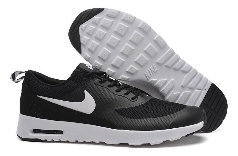 Кроссовки Nike Air Max Thea Black White Черные мужские