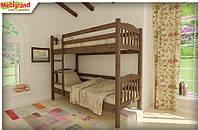 "Ліжко дитяче двох'ярусне Бай-Бай MebiGrand / Кровать двухъярусная детская деревянная ""Бай-Бай"" MebiGrand"