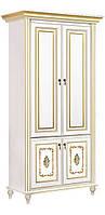 Шкаф Верона/Verona 2-х дверный белый/золото (Скай ТМ)