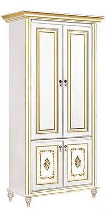 Шкаф Верона 2-х дверный белый/золото (Скай ТМ), фото 2