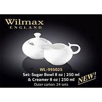 Набор Сахарница+молочник 2 предмета Color Wilmax WL-995025