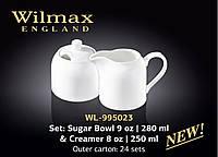 Набор Сахарница+молочник 2 предмета Color Wilmax WL-995023
