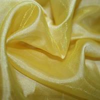 Тюль Микровуаль желтая, однотонная + высококачественный пошив