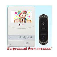 Комплект Цветной видеодомофон Hands Free PC-431 W (DVC-4Q) Встроенный блок питания
