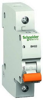 Автоматический выключатель 1-полюсный Schneider Electric BA63 1P 16A C 11203