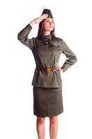 Военный женский исторический костюм