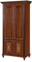 Шкаф Верона 2-х дверный белый/золото (Скай ТМ), фото 3