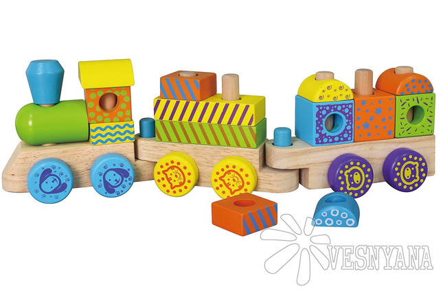 Конструктор Viga Toys Поезд 50572B, фото 2
