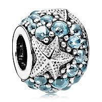 Подвеска-шарм Океаническая морская звезда из серебра 925 пробы пандора (pandora)