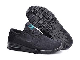 Кроссовки Nike Stefan Janoski Black Черные мужские