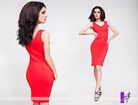 Платье выше колена облегающего силуэта качественного кроя 818 ЮГ