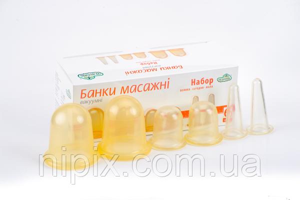 Набор вакуумных массажных антицеллюлитных чудо банок Чудесник - 6 шт