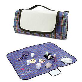 Плед-килимок для пікніка Шотландець синій