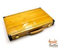 Подарочные нарды в кейсе из бамбука
