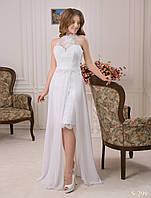 Изумительный свадебный комплект со съемной юбкой