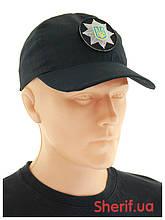 Бейсболка черная с кокардой «Полиция» Rip-Stop 7867