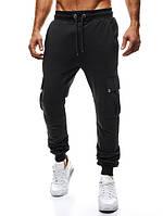 Спортивные штаны мужские  хлопок  (чёрный )