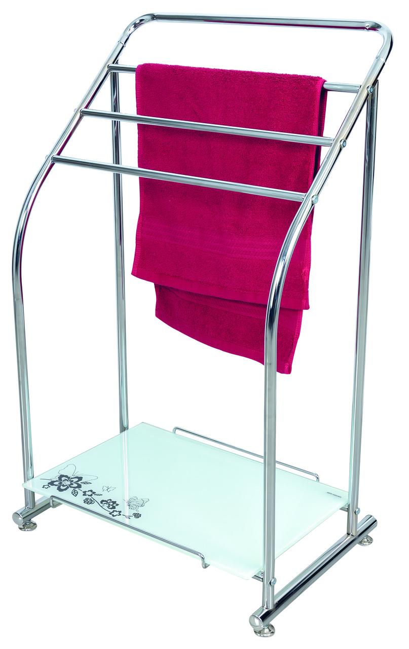 Вешалка для полотенец на 4 перекладины и полкой AWD02260609