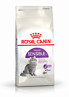 Royal Canin SENSIBLE 33 - корм для кошек с чувствительным пищеварением и для привередливых кошек 4кг.