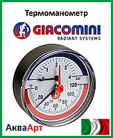 """GIACOMINI Термоманометр 20°-20°C  1/2"""" 4 бар"""