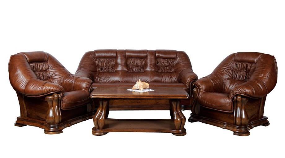 Польская кожаная мебель MAESTRO (3р+1+1)