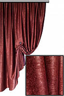 Ткань  блэкаут софт коричневый  №09