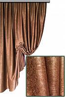 Ткань  блэкаут софт золотой №3