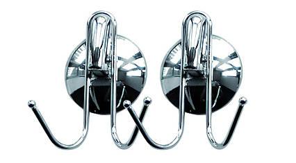 Набір вішалок для рушників на 2 гачка на присоску AWD02090339