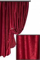 Ткань  блэкаут софт бордовая