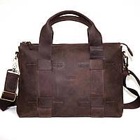 Стильная мужская сумка для документов из натуральной кожи VATTO, матовая коричневая