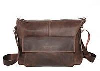 Стильная мужская сумка из натуральной кожи VATTO, коричневая