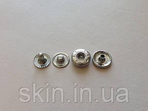Кнопка альфа, диаметр 12,5 мм, цвет - никель, в упаковке - 50 шт., артикул СК 5016, фото 2