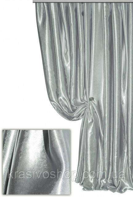 Ткань  блэкаут софт серая №18