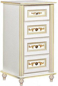 Комод Верона/Verona 590 белый/золото (Скай ТМ)