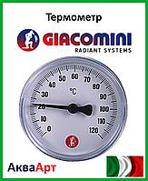 "GIACOMINI Термометр 1/2"" - 0÷120 °C - Ø61,5 mm"