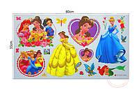 Наклейка виниловая Принцессы 3D декор