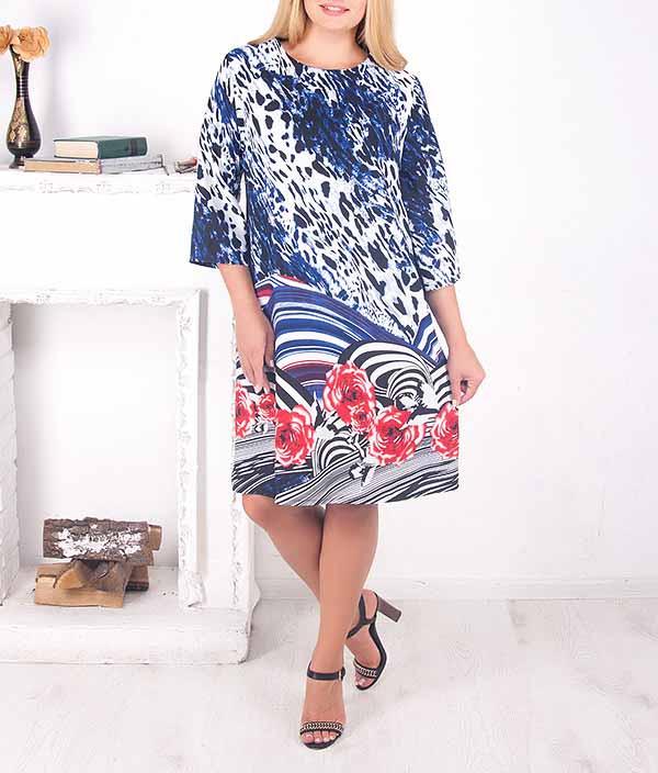 """Красивое цветное шифоновое платье """"Анжея"""" большого размера от 50 до 62"""