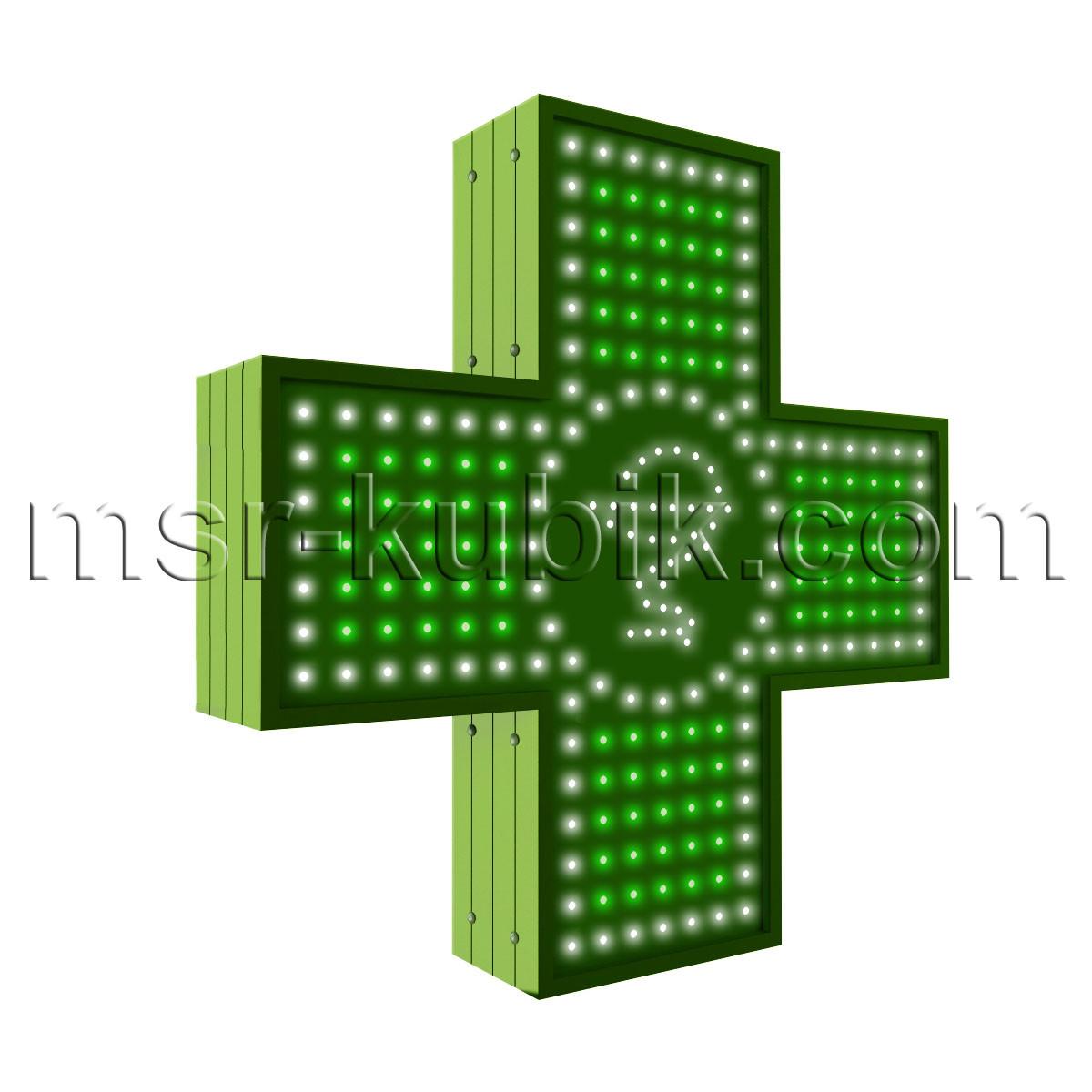 """Аптечний хрест 500х500 світлодіодний односторонній. Серія """"Bowl of Hygieia"""""""