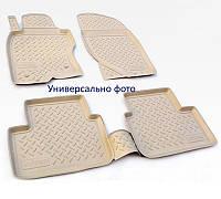 Коврики в салон Hyundai Santa Fe (CM) (06-10) (полиур., компл - 4шт) цвет бежевый.