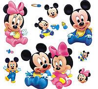 Наклейка виниловая Микки Маусы 3D декор