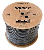 Витая пара BiCoil DOUBLE UTP Cat.5e 4PR CCA 0.51 мм PVC+PE Outdoor 305м