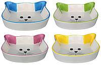 Trixie (Трикси) Ceramic Bowl Cat face Керамическая миска для корма или воды для котов 250 мл