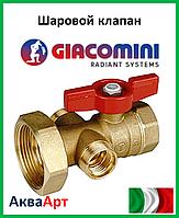"""GIACOMINI Шаровый клапан с выводом для термометра 1"""" x 1 1/2""""гайка"""