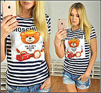 Женская футболка Moschino  медведь