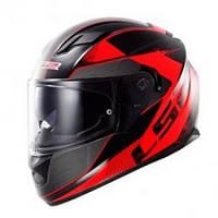 Шлем (интеграл с очками+подкачка) LS2 FF320 Stinger Black-Red- S
