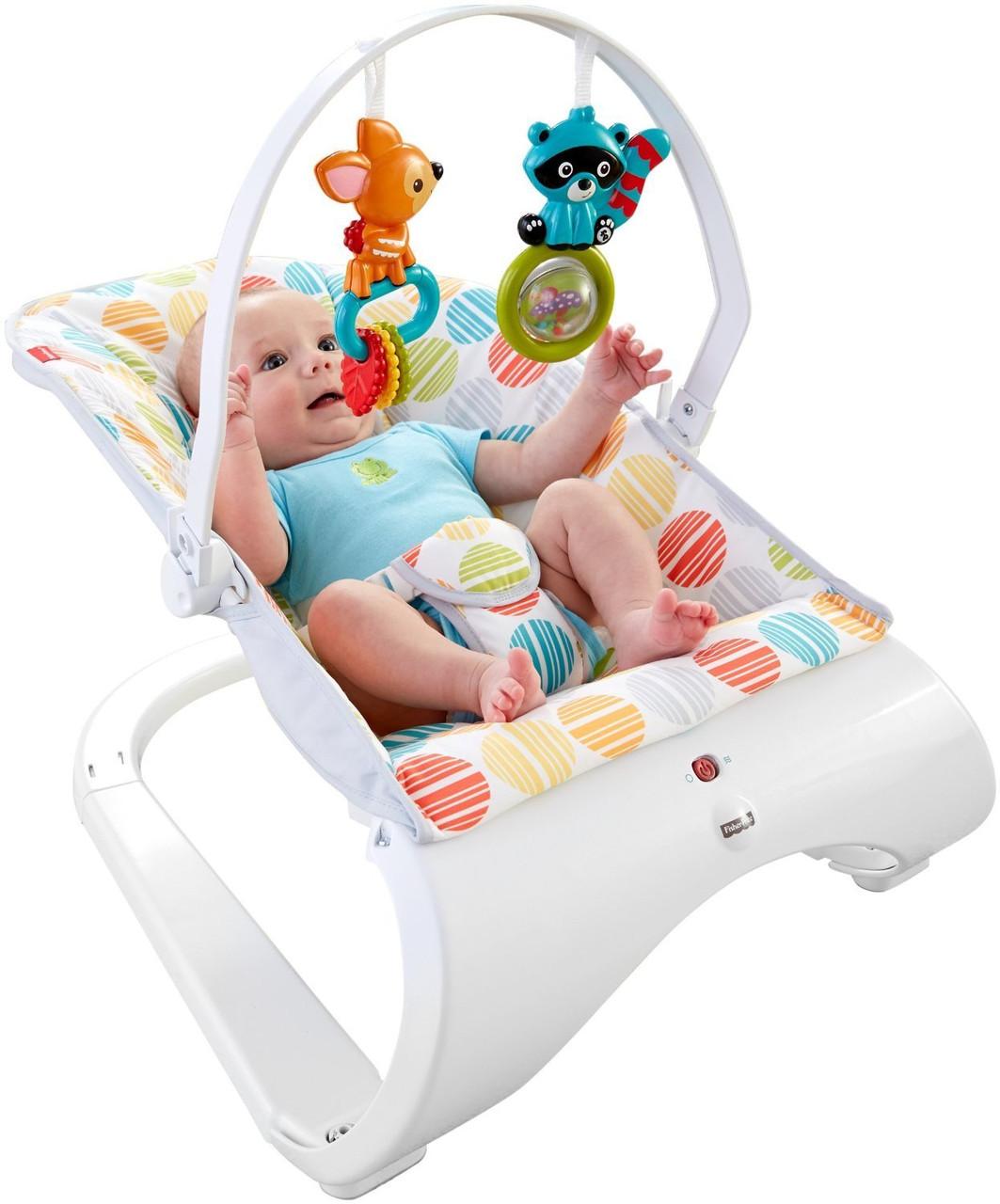 Fisher-Price кресло качалка шезлонг шарики Comfort Curve Bouncer